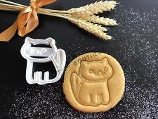 Neko Atsume Cat Cookie Cutter | Fondant Cake Decorating | UK Seller