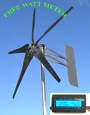 KT5 Wind Turbine 5 Blade LOW WIND 1000W 48 volt AC 3 wire 3.75 kWh  w/WATT