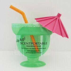 Retired Scentportable Margarita Glass Clip Includes Scent Disc Bath Body Works
