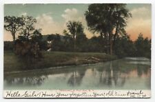 NY ~ Picturesque River Scene FORT ANN New York 1905 Washington County Postcard