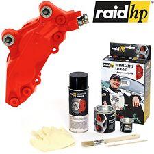raid hp Bremssattel Lack ROT glänzend mit Zubehör 6tlg Set 2K-Profi Qualität