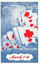 ANSWER THE CALL RED CROSS FUND KOREAN WAR AMERICAN AIRLINES MILITARY POSTCARD 53