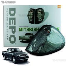 Mitsubishi L200 Triton Ml Mn 2005-2014 Tail Rear Led Light Lamp Smoke Black Lens