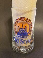 Vintage 1989 Chicago Bears 70 Seasons Old Style Beer Glass Mug/Stein
