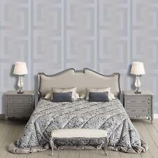 Silver Versace Wallpaper Designer Greek Key Luxury Modern Satin Paste The Wall
