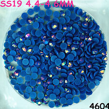 3500pcs SS19 Vivid Blue AB Hot-fix Crystal Acryl Rhinestone Round Beads flatback