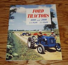 1963 1964 Ford Tractor 4000 3-4 Plow 2000 2-3 Plow Sales Brochure 63 64