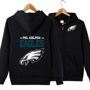 Philadelphia Eagles Fans Hoodie Classic Hooded Sweatshirt Jacket Coat Top Tops