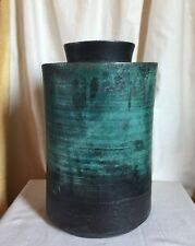 John Bedding, Art Studio pottery large lidded canister.British artist Signed.
