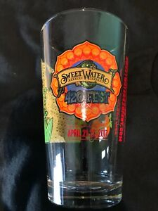 "Sweet Water Brewing Company 420 Fest 2017 Atlanta ""Moe."" Beer Pint Glass NEW"
