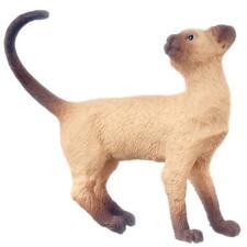 Maison de Poupées Chat Siamois Debout Apparence Dos Queue Boucle 1:12 Animal