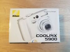 Nikon Coolpix 5900 5.1Mp3x Zoom Digital Camera Silver With Case & Accessories