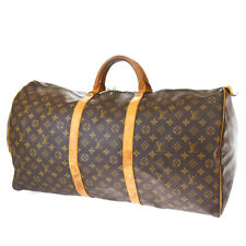 Auth LOUIS VUITTON KEEPALL 60 Hand Bag Monogram Leather Brown M41422 33AC324
