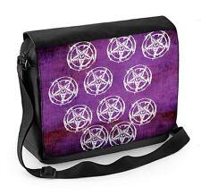 Pentagram Pagan Laptop Messenger Bag - Wicca Occult Satanic