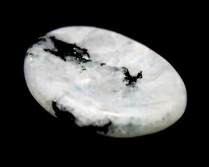 Natural Rainbow Moonstone Palm Stone Crystal Healing Reiki Polished Worry Stone