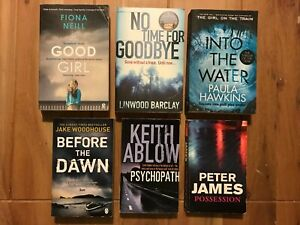 Crime/Thriller Book Bundle x6 - Jake Woodhouse, Paula Hawkins, Fiona Neill