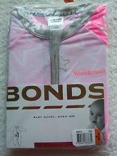 Baby Girl's Bonds Pink & Silver Stars Zip Wondersuit/coverall Size 00