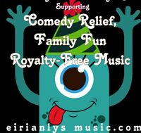 ROYALTY-FREE CD Supporting COMIC RELIEF with Family Fun humorous Charity CD