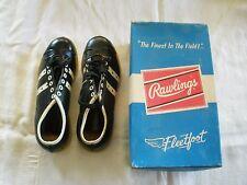 Vtg Rawlings Fleetfoot Boys Baseball Shoes NOS in Original Box 1970 size 3 1/2