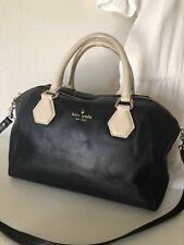 Kate Spade New York Catherine Street Pippa Handbag Purse Black Cream Satchel