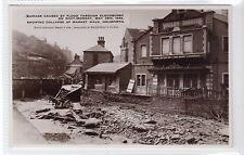 FLOOD DAMAGE, HOLMFIRTH, MAY, 1944: Yorkshire postcard (C15923)
