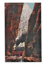 Antique Postcard  Royal Gorge Crevice Colorado 5951 Train