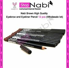 Nabi Brown High Quality Eyebrow and Eyeliner Pencil 12 pcs (Wholesale lot)