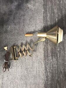 Mid Century Modern Accordion Scissor Wall Mount Lamp Light Sconce Vintage MCM