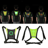 Cycling LED Turn Signal Vest, Waterproof Bike Pack Guiding Light, Reflective