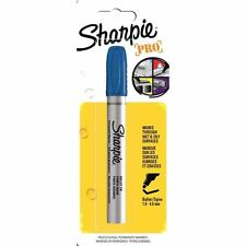 Sharpie Permanent Marker Pen Blue Bullet Tip - Writes on Oily & Wet Surfaces