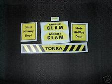 TONKA  HI-WAY DEPT. MOBILE CLAM COMPLET DECAL SET