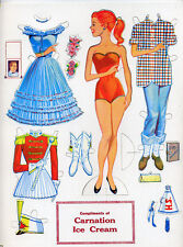Carnation Ice Cream paper doll set complete