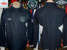 Republic Of Ireland Umbro 1/4 Zip Top Sweatshirt Warm Training Leisure