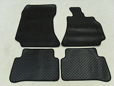 Mercedes E Class W212 2013-16 Fully Tailored Deluxe RUBBER Car Mats in Black