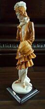 "Giuseppe Armani Figurine Figure Sculpture Statue ""Lady With Muff"" Mint Condition"
