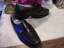 Ambassador Genuine Leather Slip Ons Size: 7D....Color:  Dark Brown....New