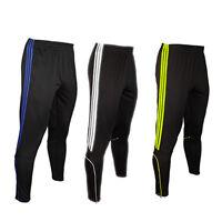 Stripe Mens Soccer Football Training Sweat Pants Athletic Skinny sport Trousers