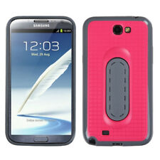 For Galaxy Note II T889/I605/N7100 Hot Pink Snap Tail Stand Protector Cover