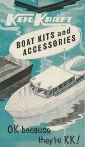 Vintage Keil Kraft model boat brochure c1950s