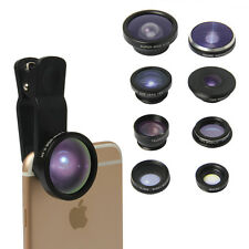 8-in-1 Clip-On Cell Phone Camera Lens Compatible With All Smart Phones Tablet PC