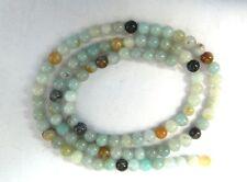 Amazonite, Mixed Colours, 4mm Round Beads on 40.5cm Strand
