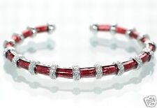 Joseph Esposito Diamonique Solid 925 Sterling Enamel Coil Cuff Bracelet '