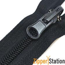 Nylon Open End Reversible Zipper (No5 Reversable Zip) - Black, Grey, Navy, White