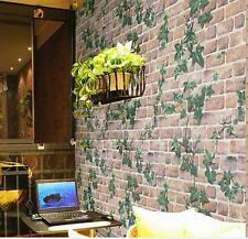 45cm*10m Roll Ivy/Brick Prepasted Self Adhesive Contact Paper Wallpaper LS30#