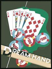 POKER ART PRINT Dream Hand - Brian James STRAIGHT FLUSH Casino Card Poster 11x14