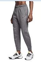 Nike Mens Dri-FIT Therma Fleece Training Jogger pants Large Gray Tapered CV7739