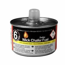 More details for 12 zodiac liquid wick chafing fuel gel can 4 hour warming buffet catering tins