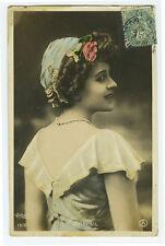 c 1907 French Theater Beauty BRESIL Music Hall Cabaret Reutlinger photo postcard