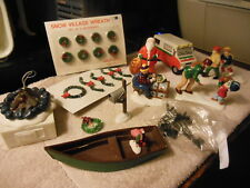 Dept 56 several Snow Village odds& ends accessories