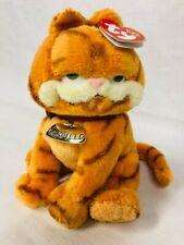 Garfield Ty Beanie Babies NWT 2004 Collar Food Bowl Tag Soft Plush